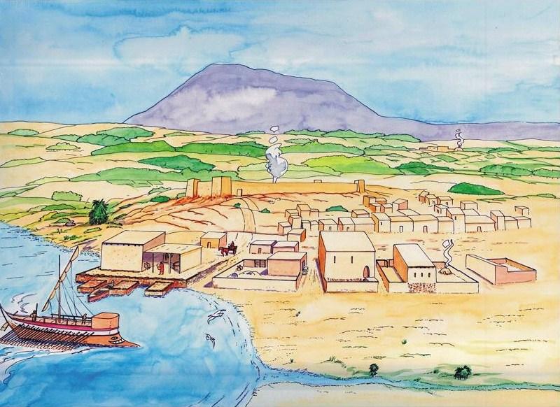 Recreación del embarcadero ibérico del Tossal de les Basses (Cortesía de Arpa Patrimonio)