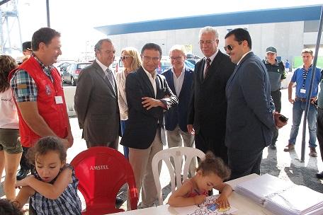 Ripoll y Castellano junto al cónsul de Argelia