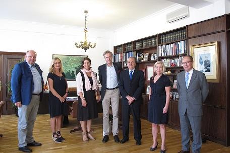 Ripoll recibe a la alcaldesa y director del puerto de Gotemburgo