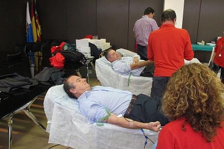 Ripoll durante la donación