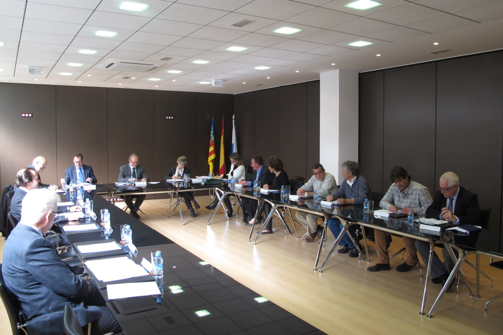 Un momento del Consejo de Administración del Puerto de Alicante