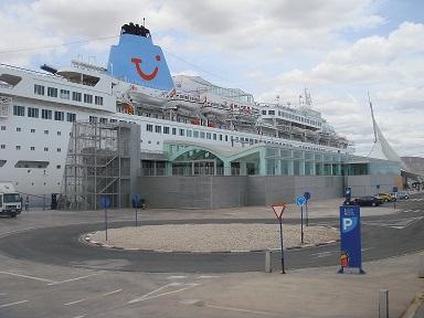 Crucero en la estación marítima