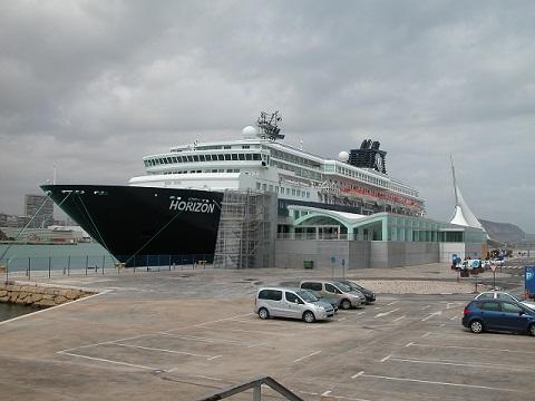 Vista de la terminal marítima