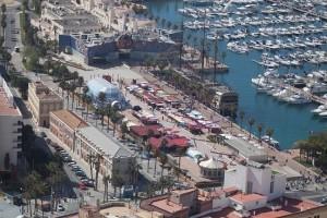 Panorámica del puerto de Alicante