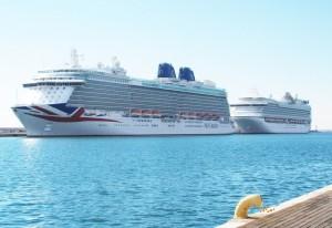 Panorámica del Britannia y el Ventura desde el muelle 10