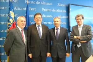 Los presidentes de los puertos de Alicante, Valencia y Castellón junto al President de la Generalitat